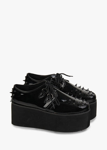Punk Rivets Black Shoes