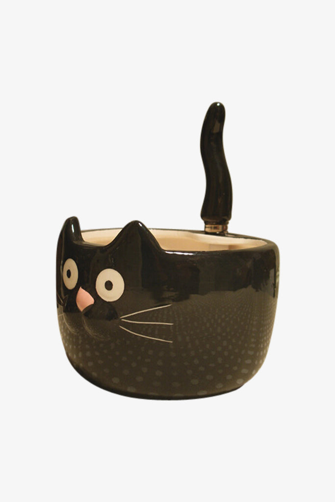 Cat Ceramic Bowl & Spoon Set
