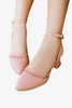 Cute D'Orsay Pink Shoes