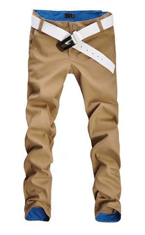 Slim Fit Brown Pants