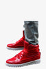 Patent Leather Boots In Red