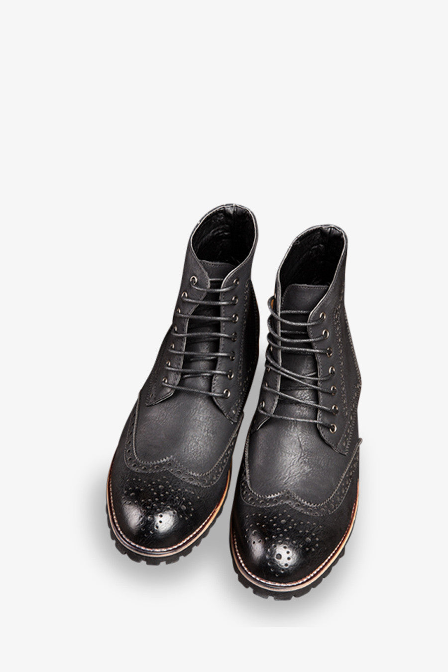 Classic Brogue Boots In Black