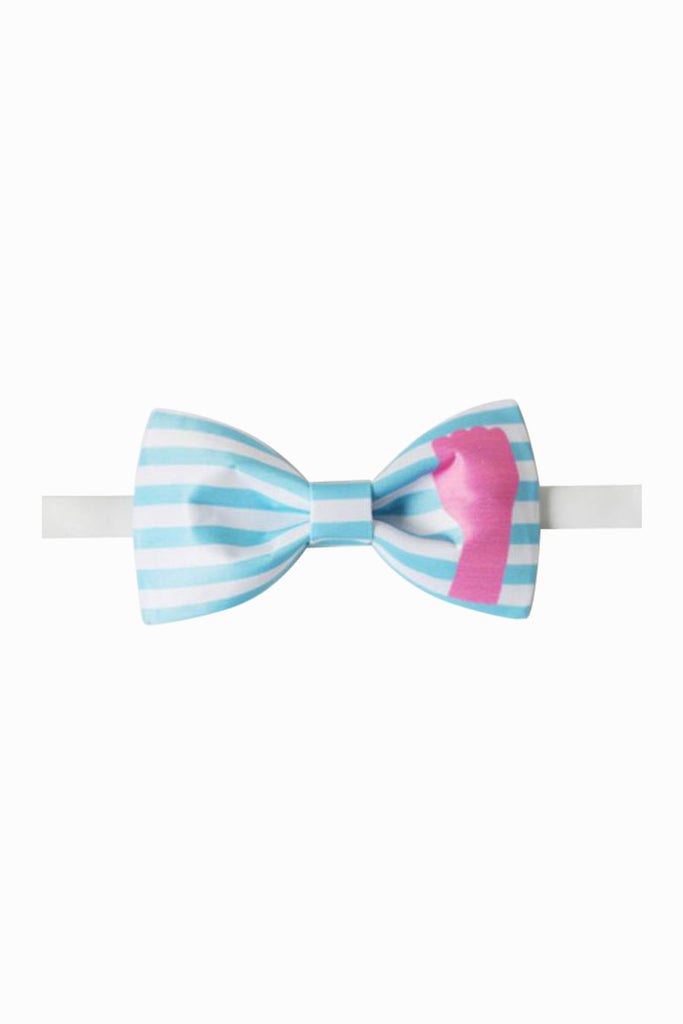 Hamsa Striped Bow Tie
