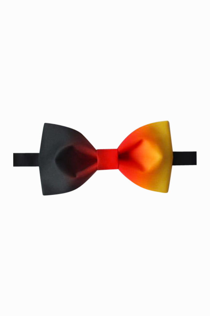 Red Orange and Black Bow Tie