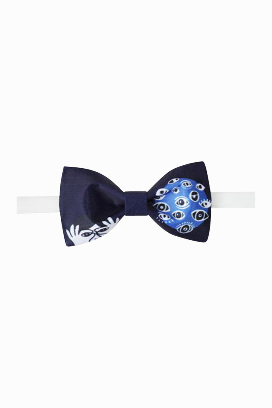 Eye Of Darkness Bow Tie In Blue