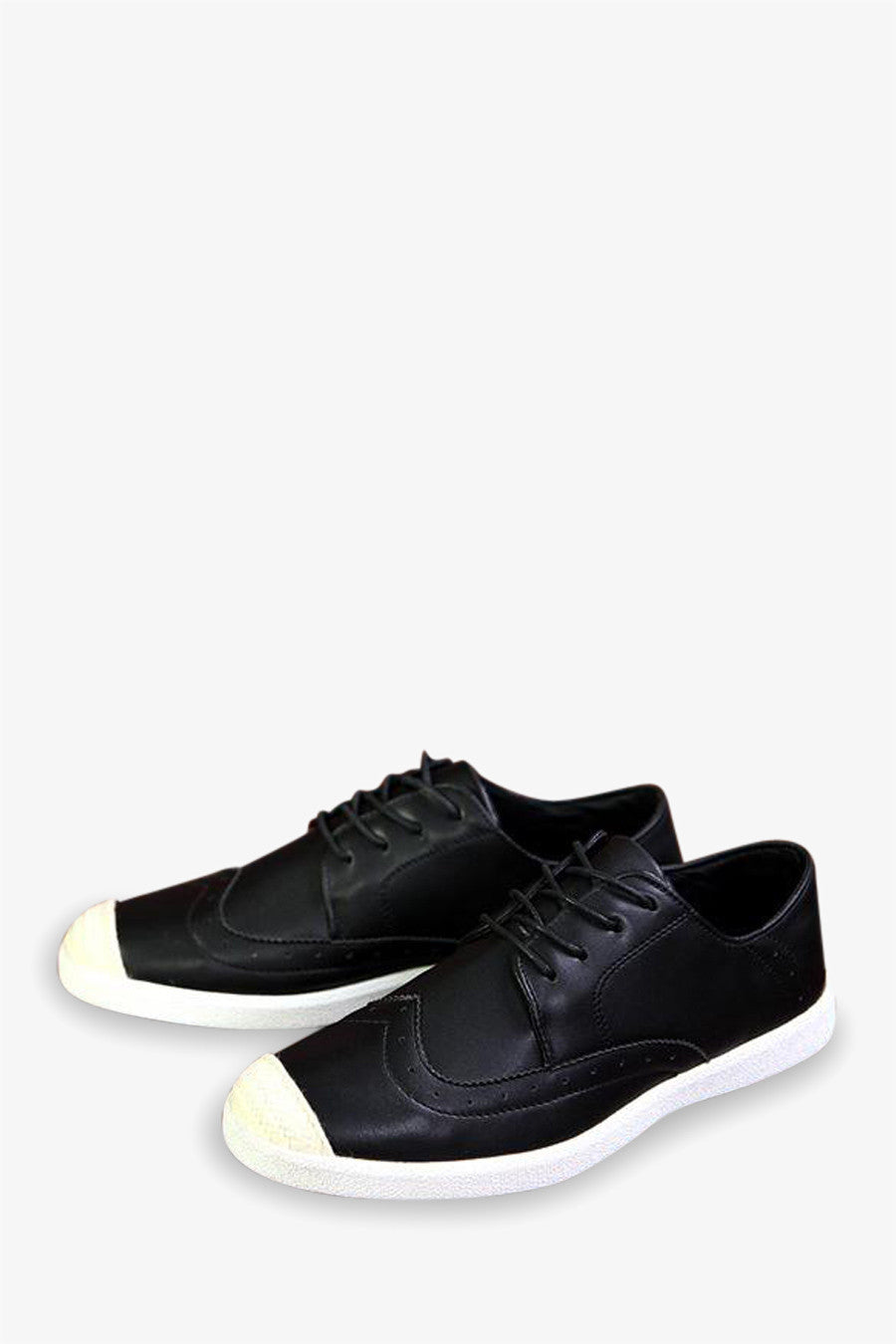 Vintage Style Sneakers In Black