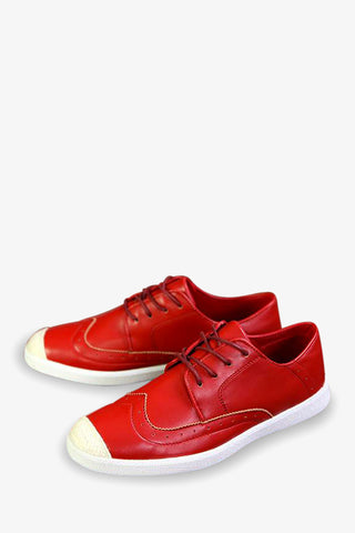 Vintage Style Red Sneakers