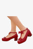 Lolita Red T-Strap Shoes