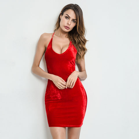 Velvet Bandage Party Dress
