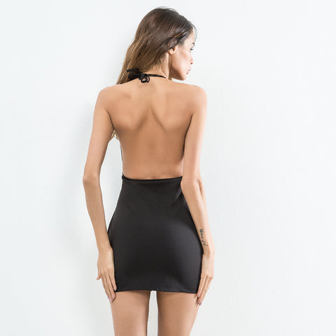 Sexy Backless Halter Dress