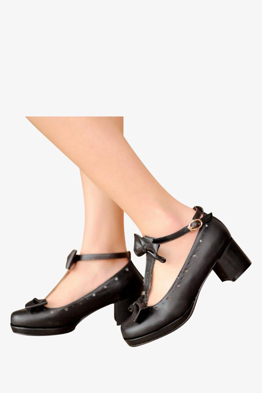 Lolita Black T-Strap Shoes