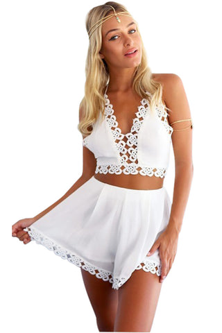 Crochet Co-Ord White Set