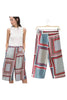 Retro Printing Wide Leg Pants