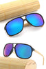Retro Square Bamboo Sunglasses