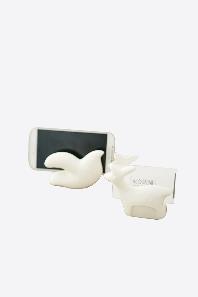 Porcelain Animal Business Card Or Smartphone Holder