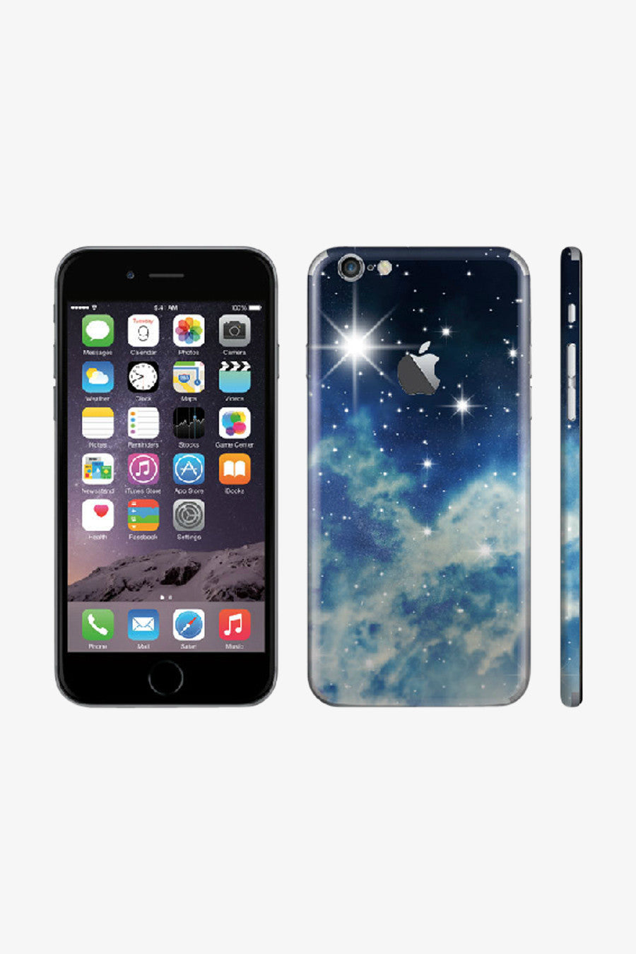 Iphone Vintage Starry Sky Vinyl Decal Sticker In Blue. Art Decals By Moooh!!