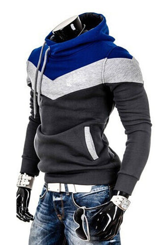 Men's Fashion Color Block Hoodie
