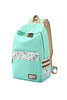 Polka Dot And Floral Printed Backpack In Mint