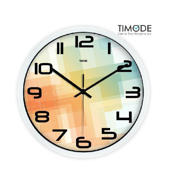 Fashion Art Wall Clock In White