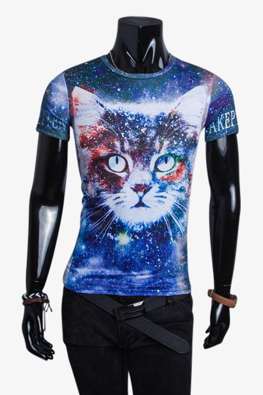 Galaxy Print Kitty Head T-shirt