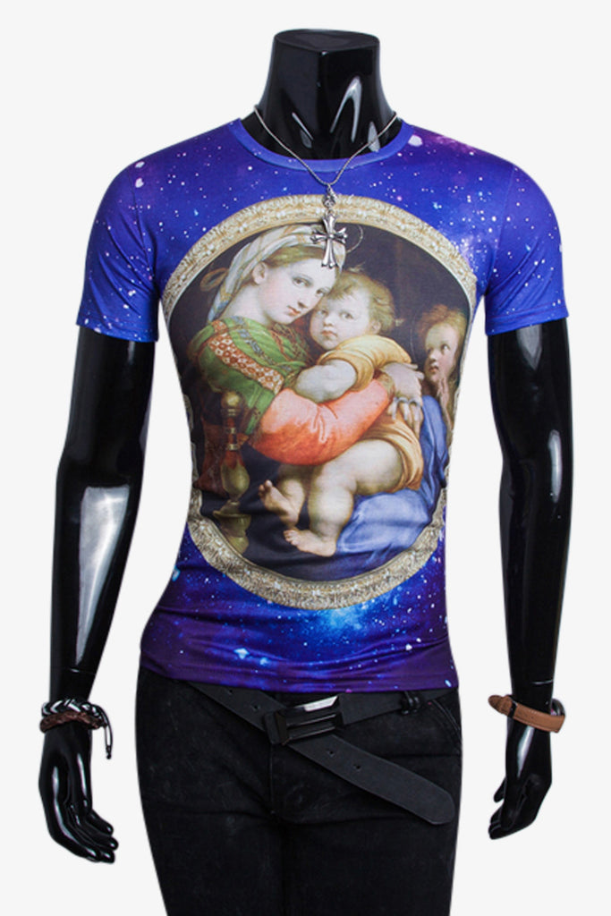 Madonna Con Bambino In The Galaxy T-Shirt