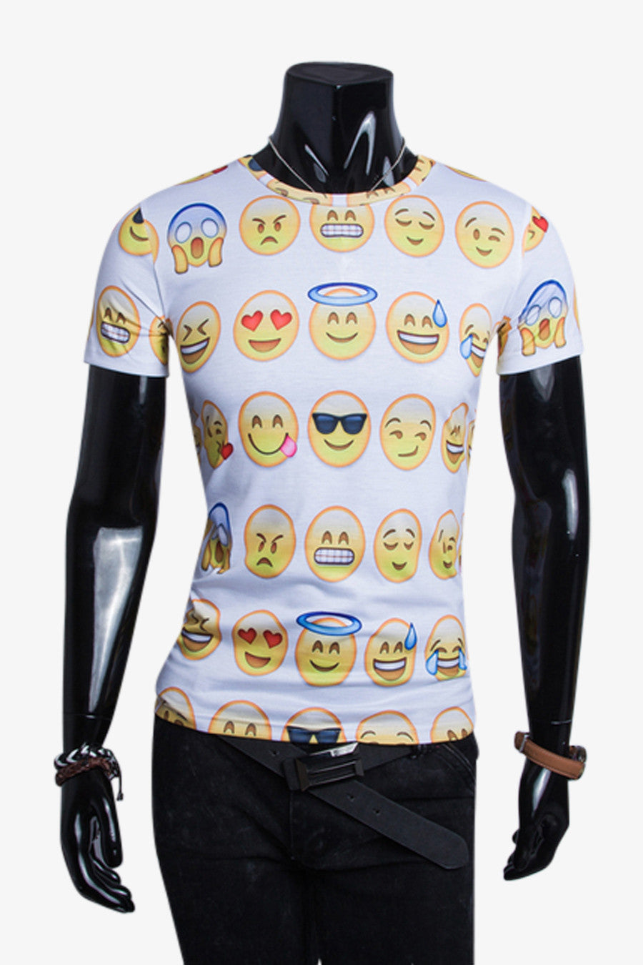 Happy Emoji Slim Fit T-shirt