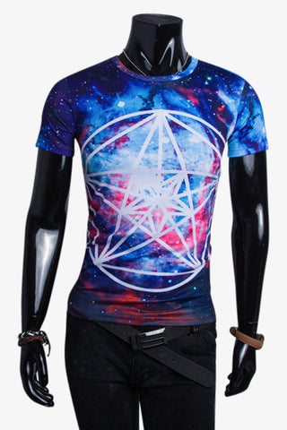 Harajuku Men's Space Psychedelic T-shirt