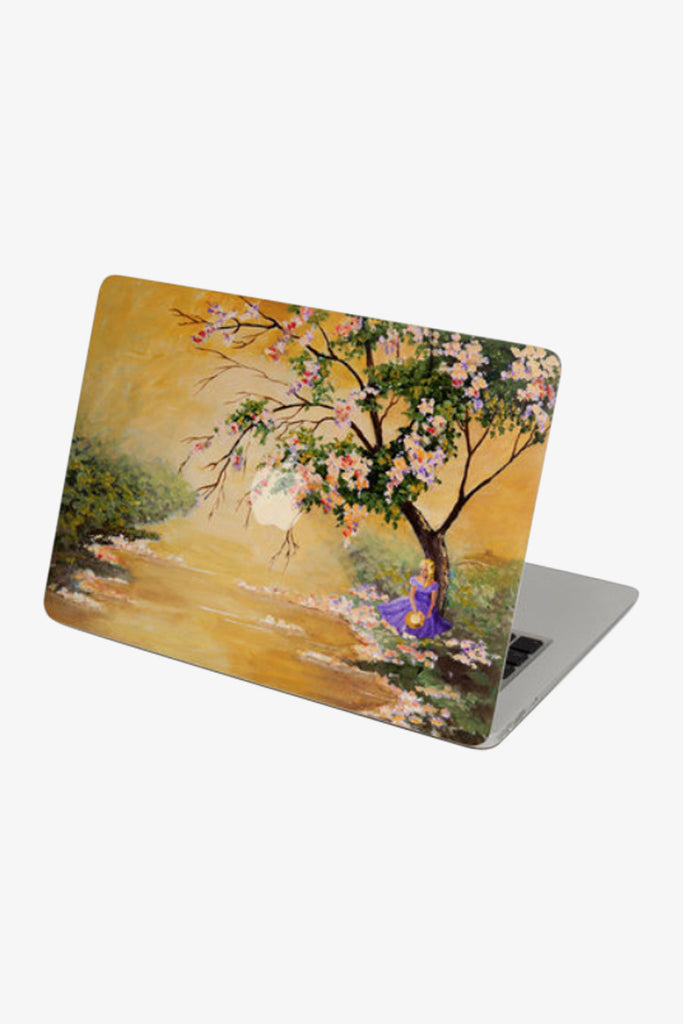 Macbook Girl Under The Tree Skin Decal Sticker. Art Decals By Moooh!!