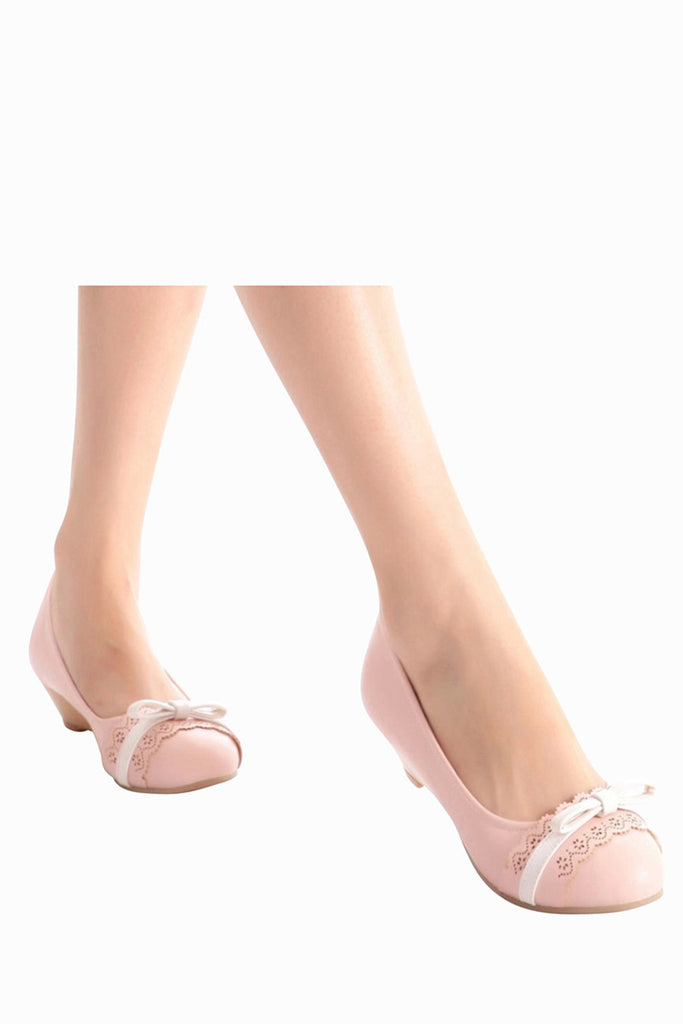 Pastel Pink Lace Wedges