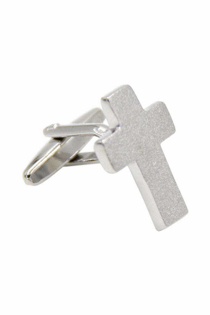 Cross Wedding Cufflinks In Silver