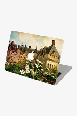 Macbook Vintage Castle Gardens Skin Decal Sticker. Art Decals By Moooh!!