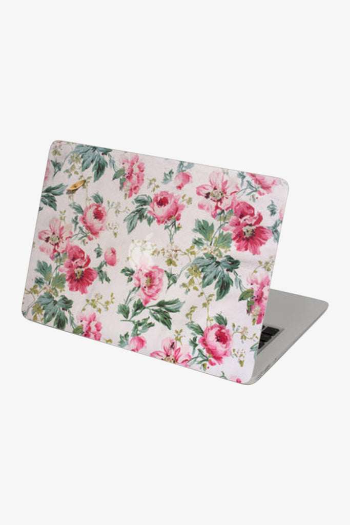 Macbook Retro Pink Floral Skin Decal Sticker. Art Decals By Moooh!!