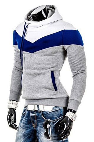 Color Block Men's Hoodie
