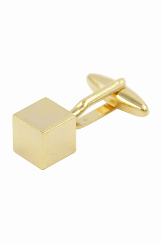 Square Golden Cube Cufflinks
