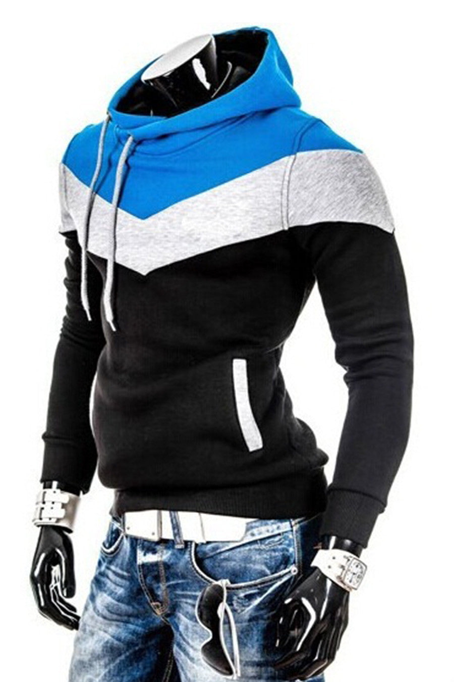 Color Block Long Sleeve Hoodie