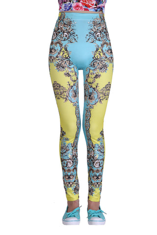 Vintage Leggings In Pastel Blue