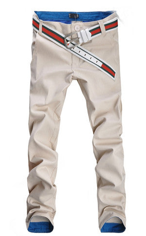 Slim Fit Beige Pants
