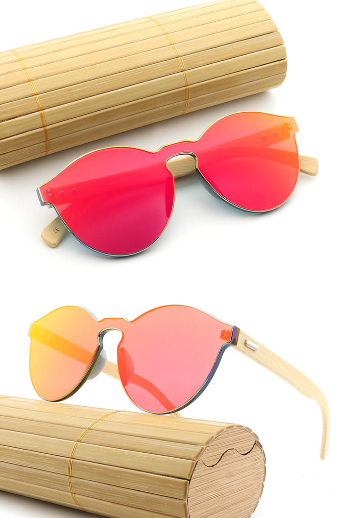 Frameless Bamboo Polarized Sunglasses