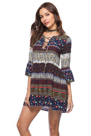 Tribal Boho Tunic Dress