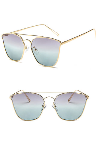 Retro Square Tint Sunglasses