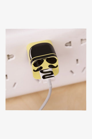 Iphone 4/5/6 Charger Sunglasses Man Sticker. Art Decals By Moooh!!