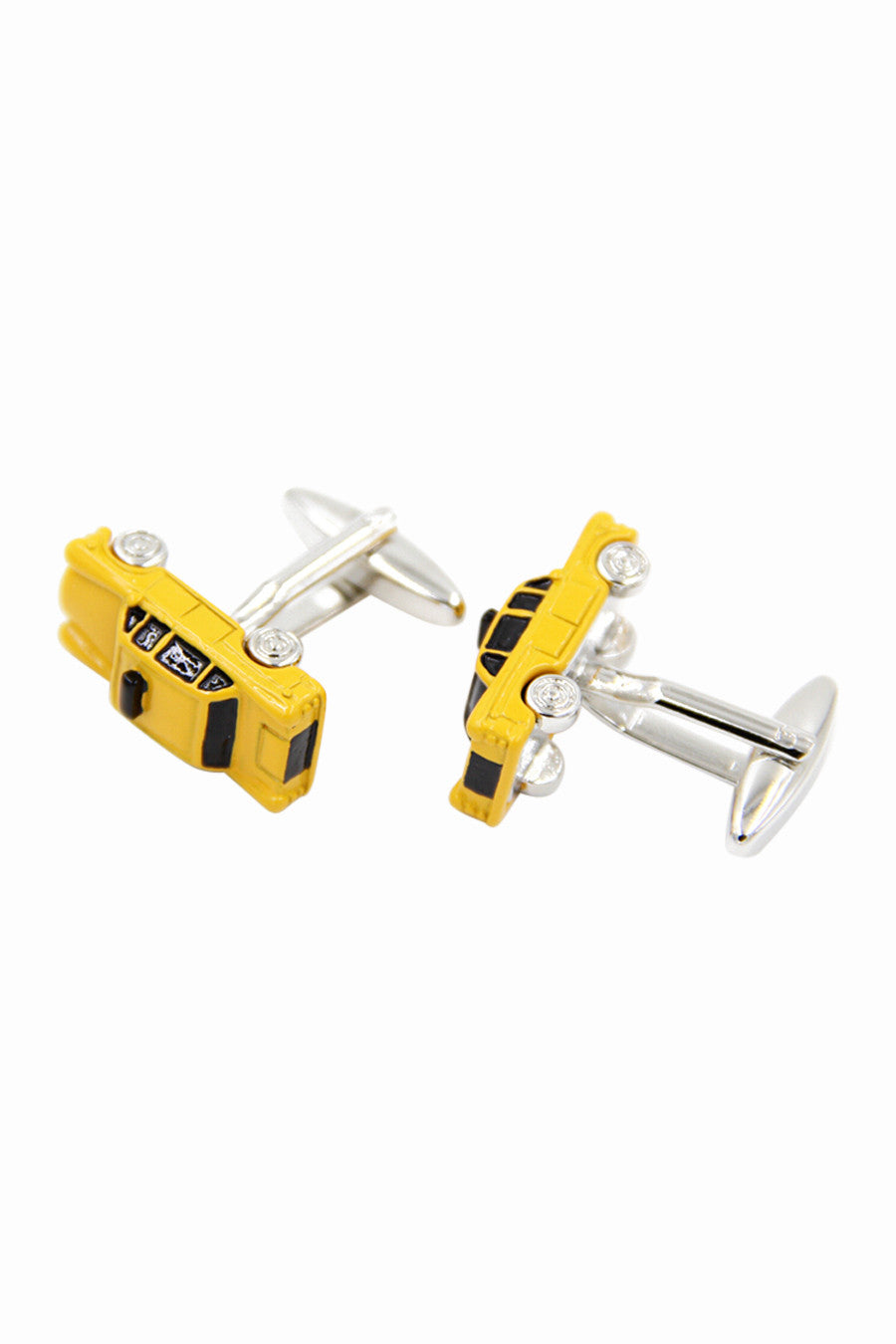 Yellow Car Dress Shirt Cufflinks For Him