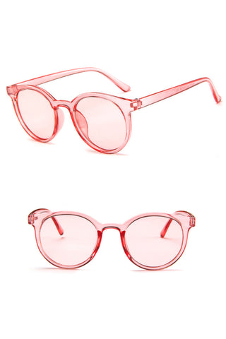 Clear Vintage Round Sunglasses