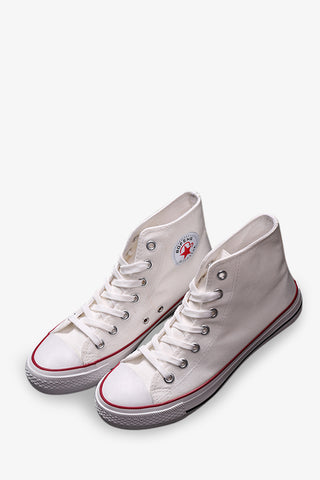 High Top Casual Sneakers In White