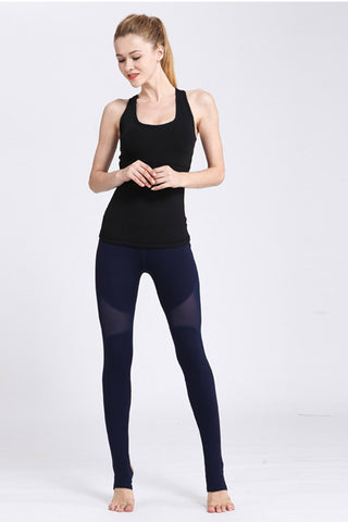High Waist Mesh Yoga Leggings