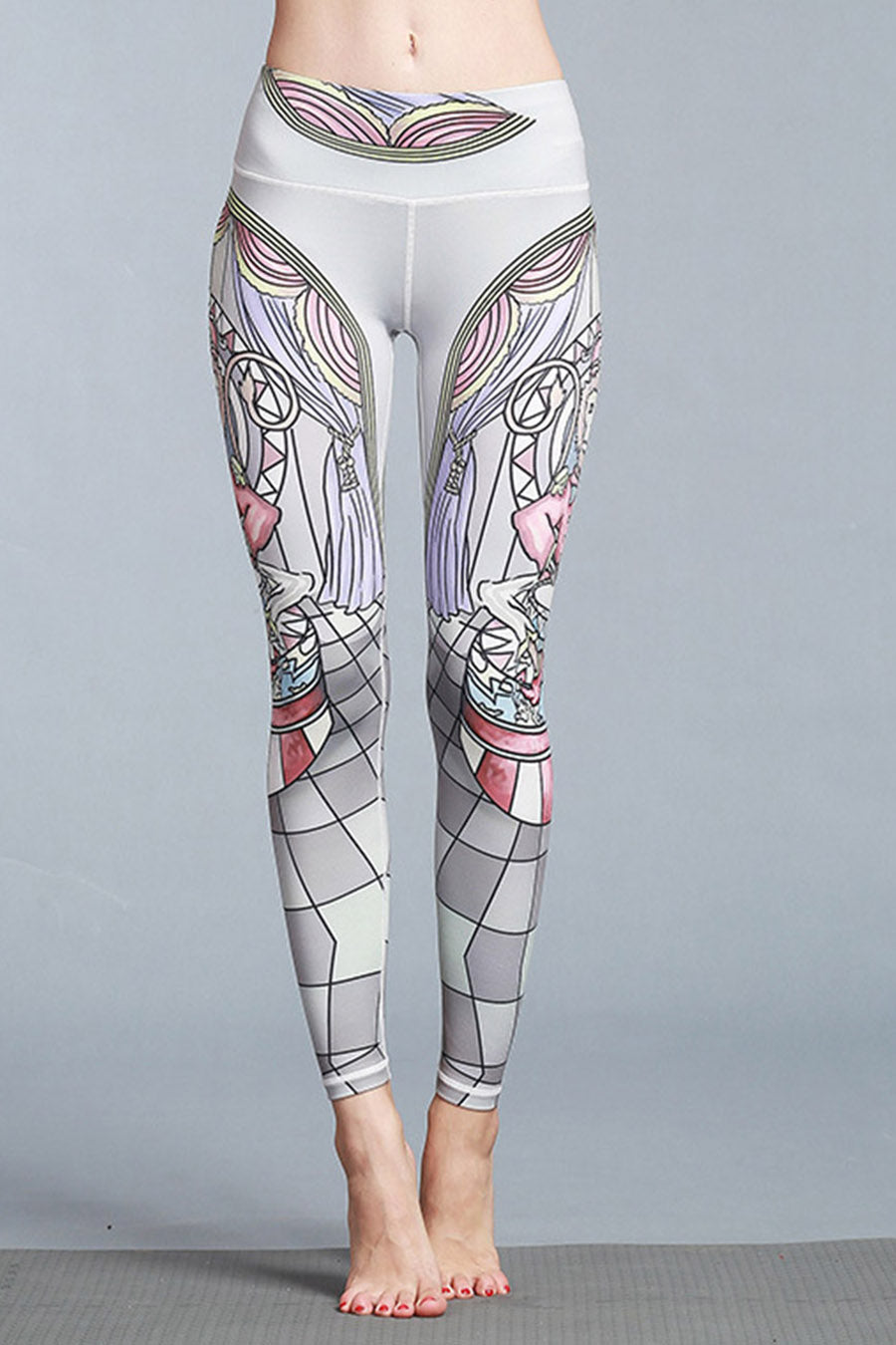 Vintage Print Yoga Leggings