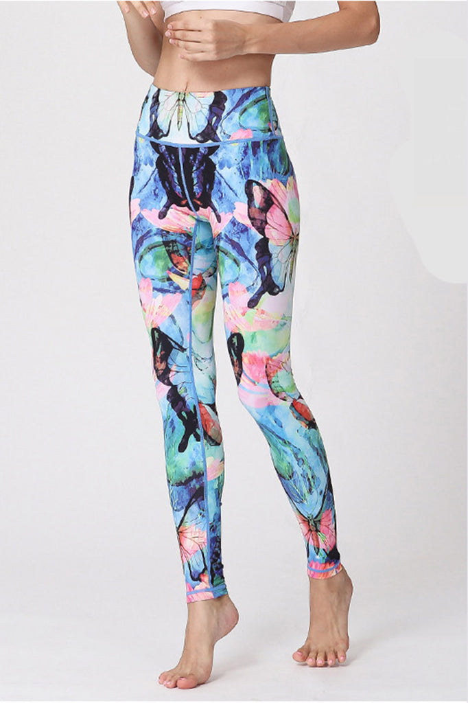 Butterfly High Waist Yoga Leggings