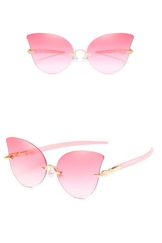 Cat-eye Rimless Sunglasses