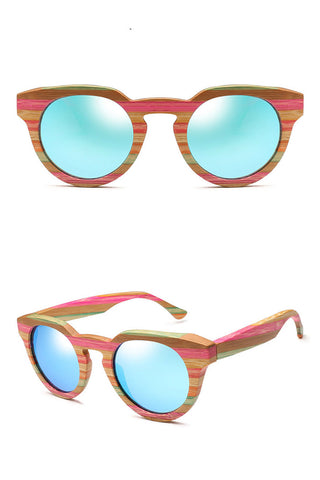 Bamboo Cat-Eye Sunglasses