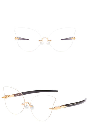 Cat-eye Rimless Readers